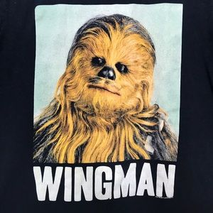 Old Navy Collectibilitees Chewbacca Wingman Shirt